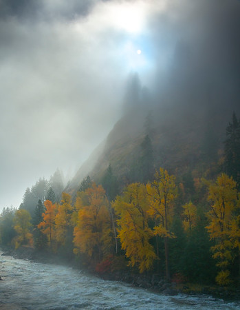 A Tiny Glimpse Of The Sun Shining - Leavenworth, Central Washington, WA