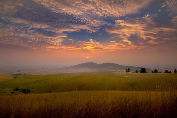 Sunset Glow Over The Rolling Wheat Hills - Palouse, Eastern Washington