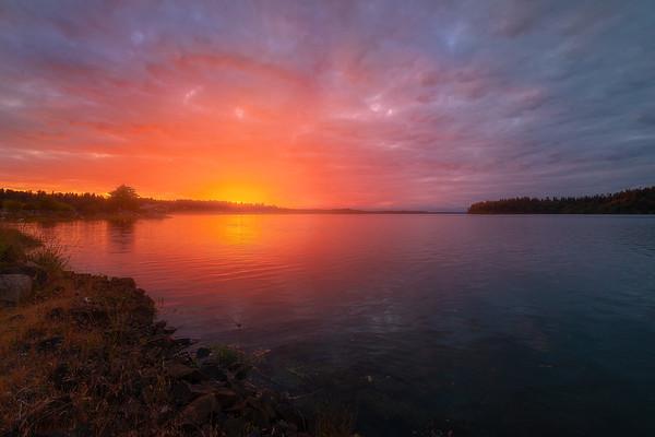 Sunset From Anthony's Marina - Olympia, Washington