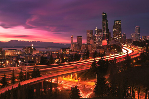Buildings & City: Seattle at Sunset, picture nr. 31177