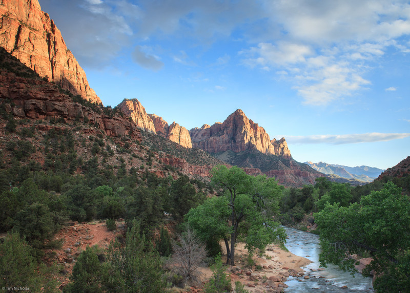 Zion: The Watchman in late afternoon