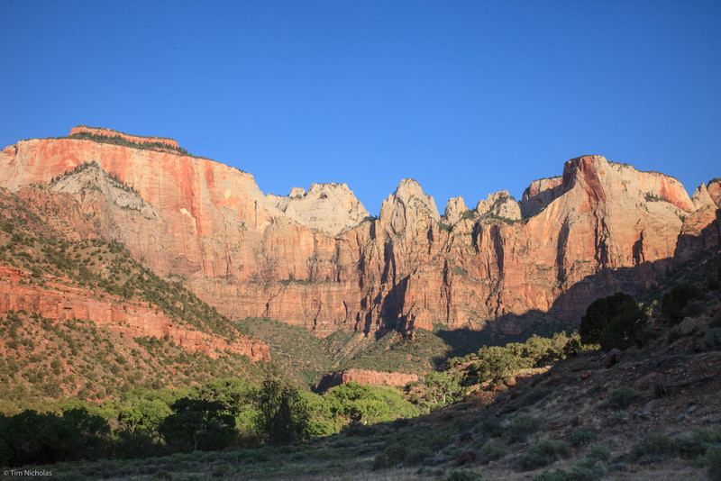 Zion: Early morning at the Towers of the Virgin