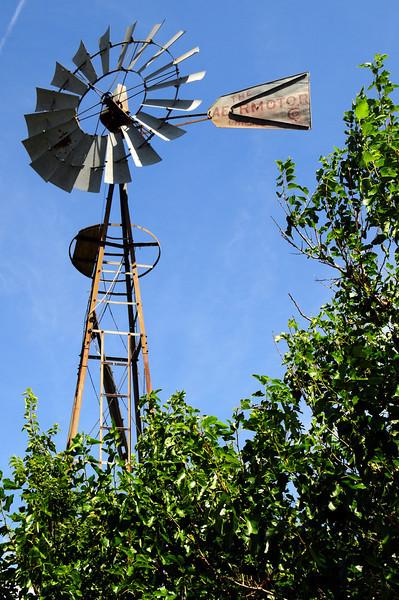 Aeromotor at abandoned farm house in KS