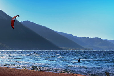 Wind Surfing on Lake Tahoe