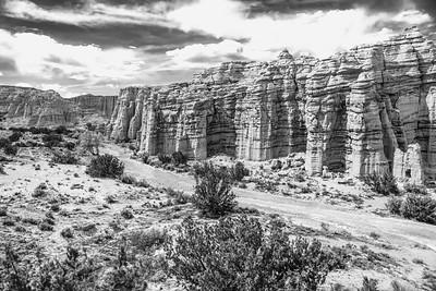 Ghost Ranch Canyon, New Mexico - B&W