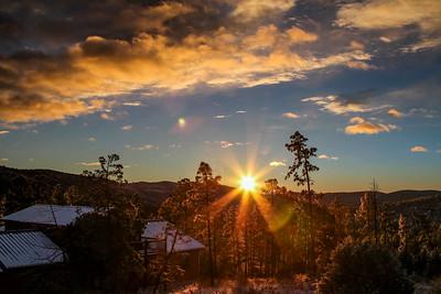 Sunrise over Sacramento Mountains