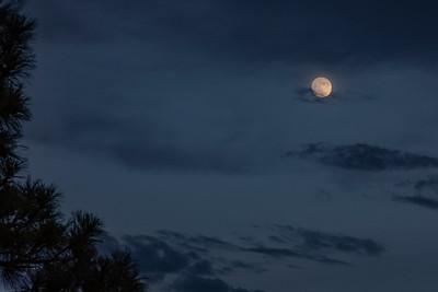 Hunter's Moon over Sacramento Mountains