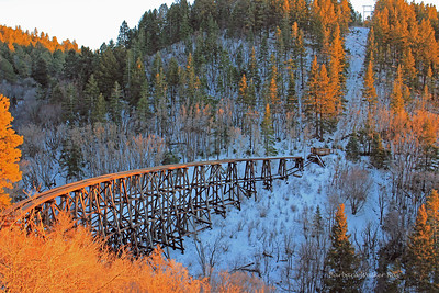 Sunset over Mexican Canyon Trestle