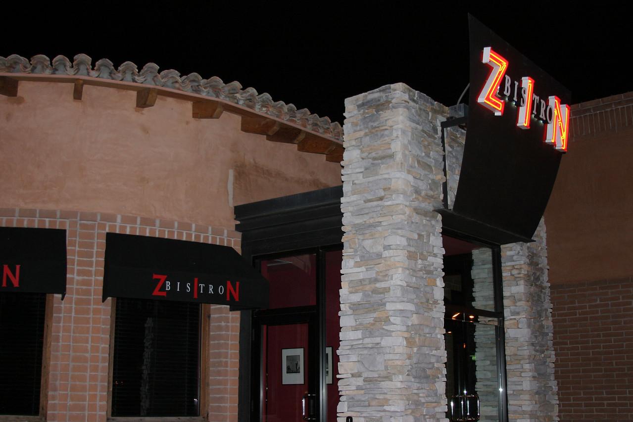 Bistro Zin, River Road, Tucson Arizona.