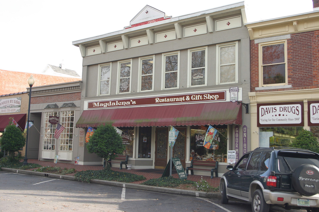 Magdalena's on south side of courthouse square in Corydon, Indiana.
