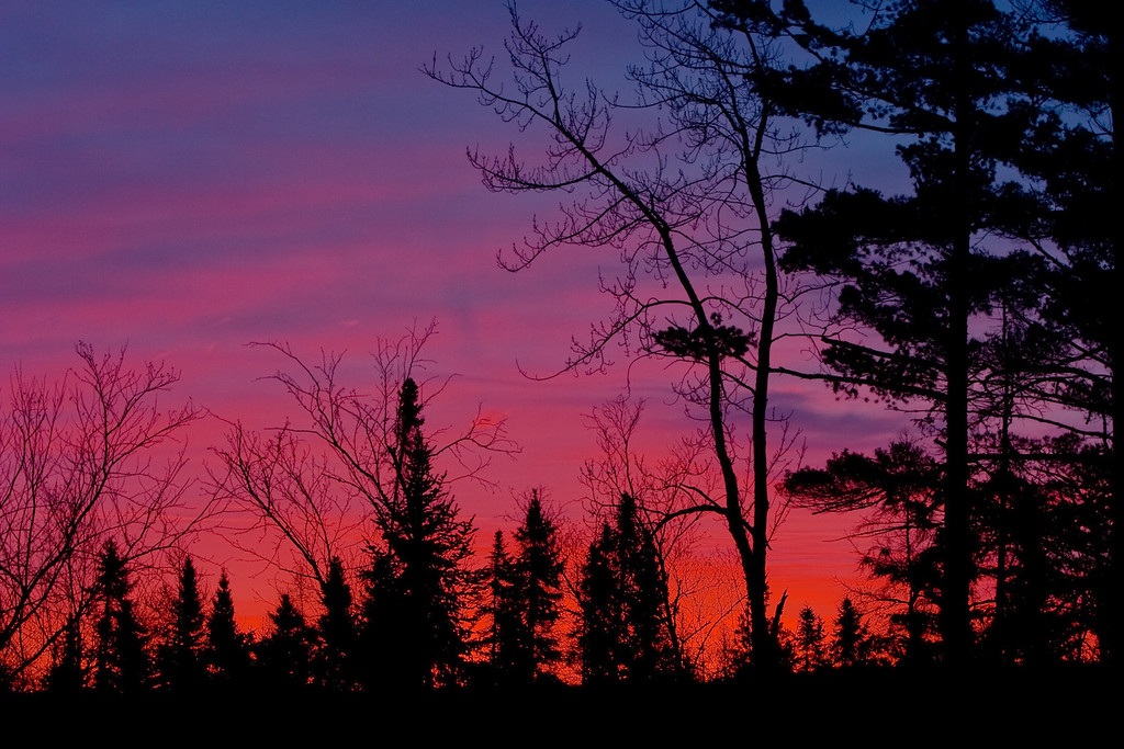 Colorful sunrise near Baraga.