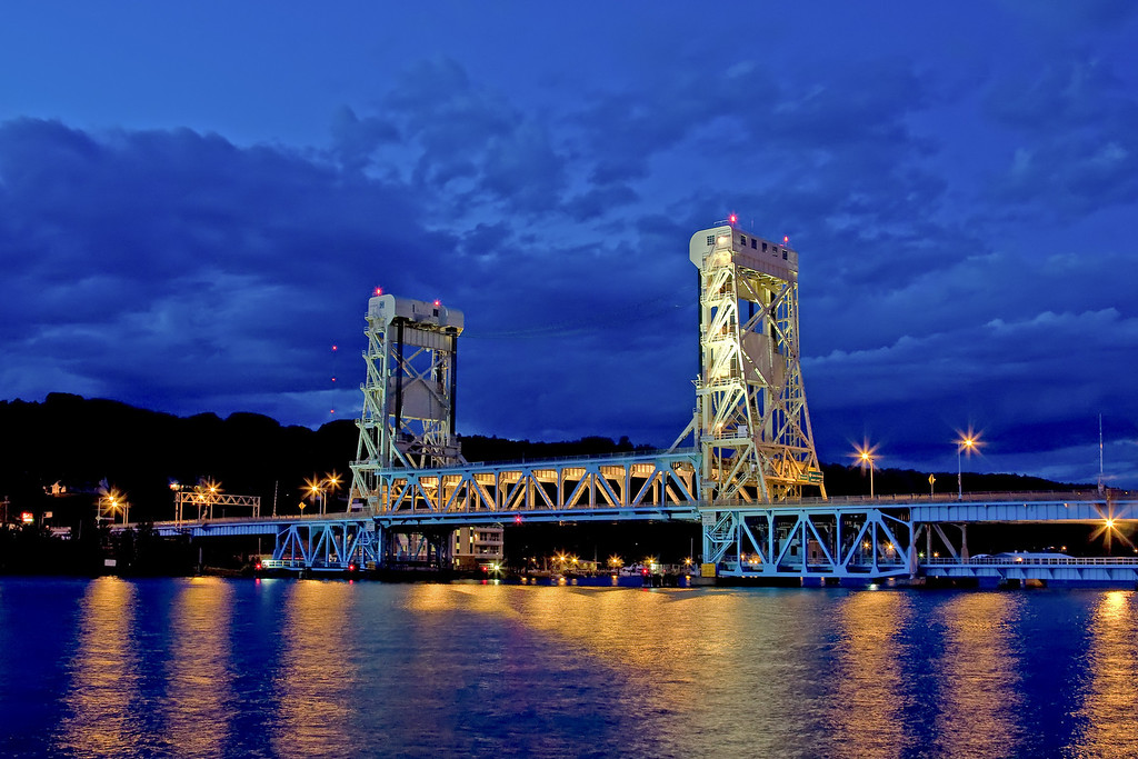 Portage Lift Bridge in late June.