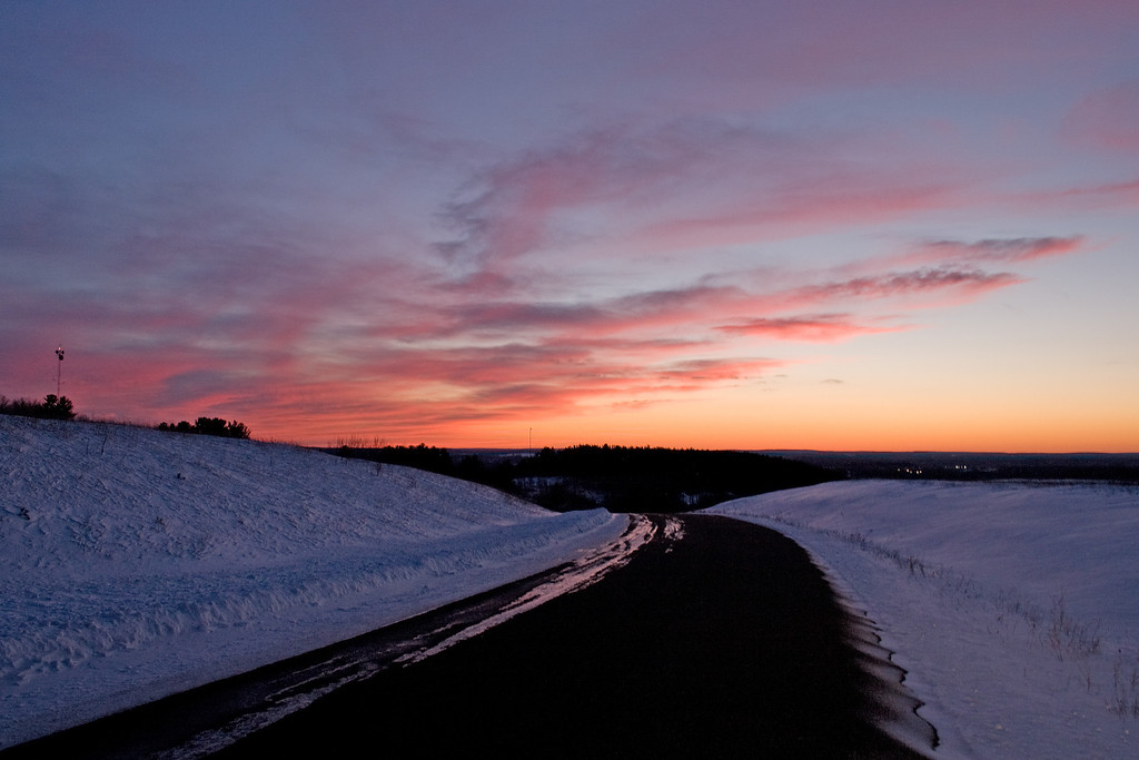 Late winter dusk as seen from Millie Hill (Iron Mountain MI).