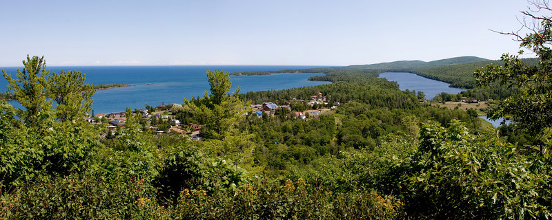 Panoramic view of Copper Harbor.