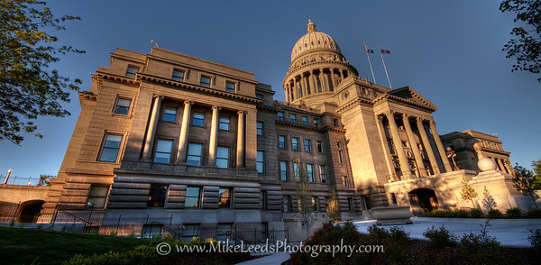 Boise Capital building on a May evening. HDR