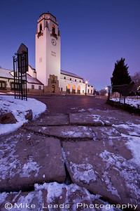 Before sunrise at the Boise Depot on a cold December Morning.