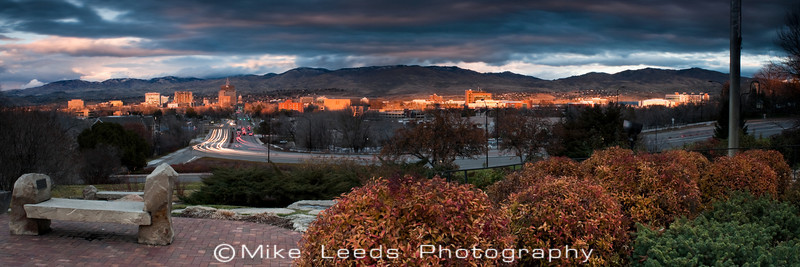 Boise Idaho on a December evening