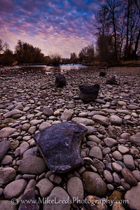 Low water on the Boise River in Idaho