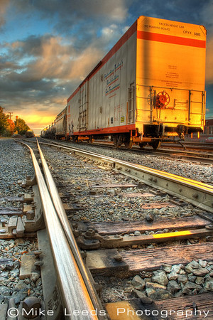This shot was taken at the rail yard in Nampa Idaho.  Early morning during Fall. High Dynamic Range.