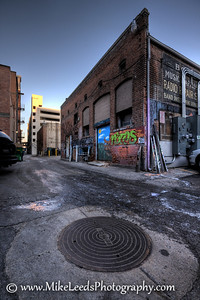 Alley on a cold December morning in Boise Idaho.