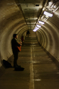 Busking Under the Thames