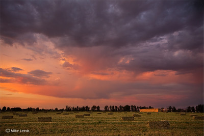 Storm rolling over a freshly cut field of Hay in the Treasure Valley, Idaho.