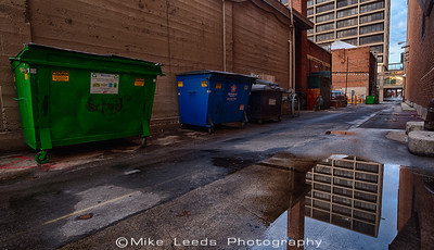 Alley in Boise Idaho on a cold December Morning.