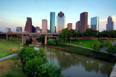 Houston Skyline from the Sabine Street Bridge using HDR