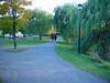 Walking path on the  south edge of the park PARC-DE-L'ILE-DE-LA-VISITATION  Chemin de promenade a la limite sud du parc