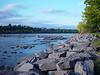 Stones to protect the river bank by the erosion of fury's water at time of heavy rain,PARC-DE-L'ILE-DE-LA-VISITATION,Les pierres protegent la rive de l'erosion,par les eaux tumulteuse,dans les periodes de pleines,