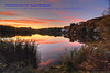 Chandler Pond autumn sunset