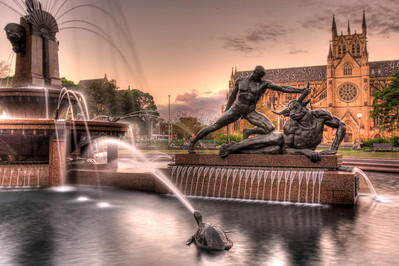 Archibald Fountain & St. Mary's Cathedral - Hyde Park