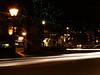 27th Feb 2009. Headlight trails opposite the Crown Hotel in Harrogate.