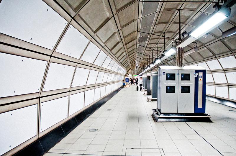 Tunnel under Heathrow Airport, London, UK