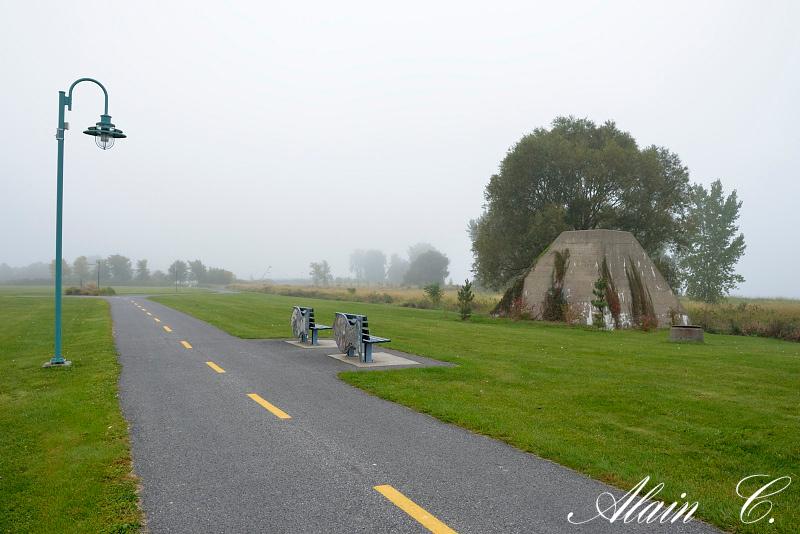 Brouillard au parc de la Commune