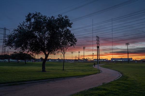 Man in my sunset stroll