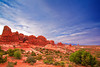 Utah, Arches National Park, Garden of Eden, Sunrise Landscape, 犹他,  拱门国家公园 沙漠, 风景