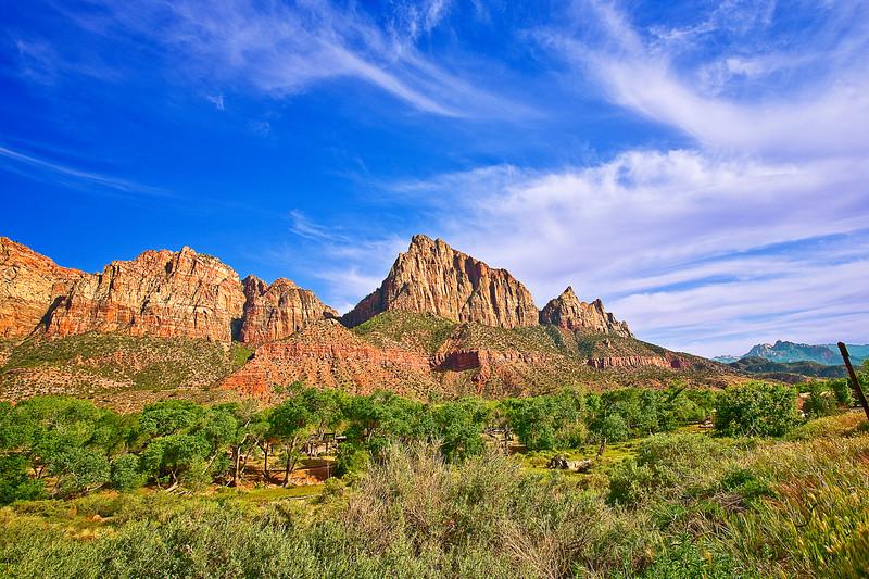 Utah, Zion National Park Landscape,  犹他, 锡安山国家公园