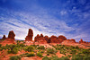 Utah, Arches National Park, Garden of Eden, Sunrise Landscape, 犹他,  拱门国家公园