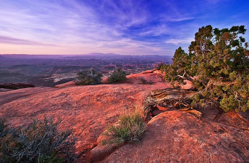 Utah, Canyonlands National Park, Sunrise, Grand View Point Landscape, 犹他,  峡谷地国家公园