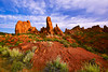 Utah, Arches National Park Landscape, 犹他,  拱门国家公园