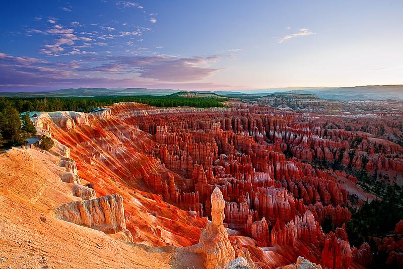 Utah, Bryce Canyon, Sunrise, Landscape, 犹他, 布莱斯国家公园 沙漠, 风景