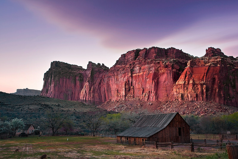 Utah, Capitol Reef National Park, Canyon, Red rocks, Fruita, Sunset Landscape, 犹他, 圆顶礁国家公园