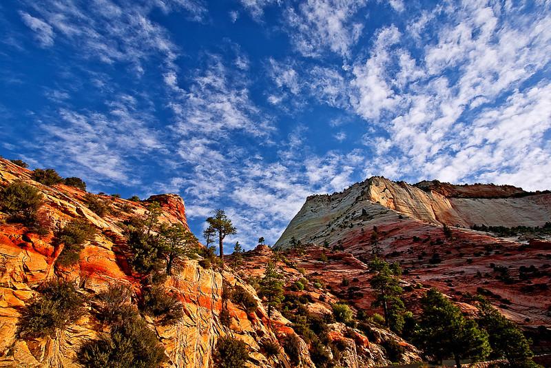 Utah, Zion National Park, Landscape,  犹他, 锡安山国家公园