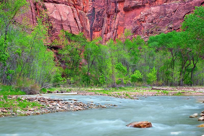 Utah, Zion National Park, Zion Canyon Landscape,  犹他, 锡安山国家公园