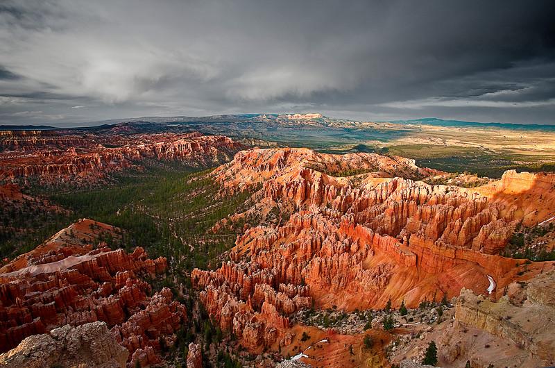 Utah, Bryce Canyon, Sunset, Landscape, 犹他, 布莱斯国家公园