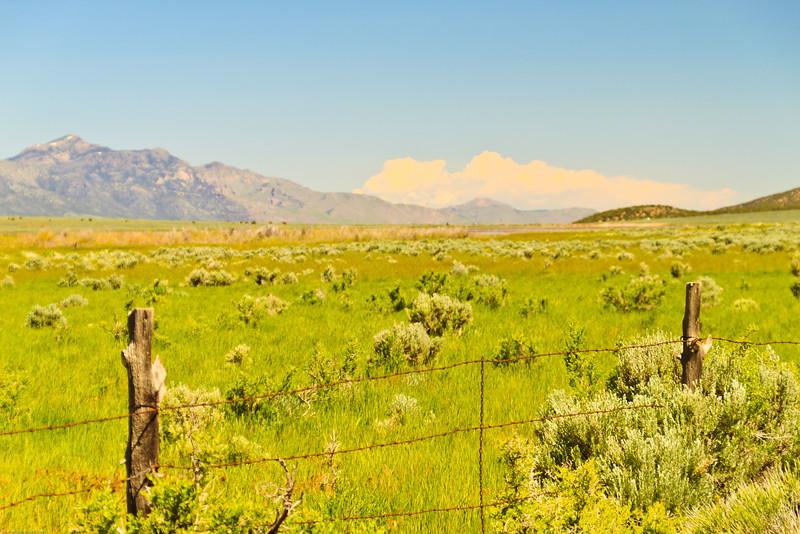A landscape taken June 7, 2011 near Salina, UT.