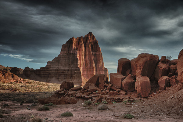"""First Place Winner """"Digital Art"""" at the Utah County Art Gallery 2011 Fall Photography and Digital Art Show.  This was classified as digital art because it is an HDR image. Taken in Cathedral Valley at Capitol Reef National Park"""