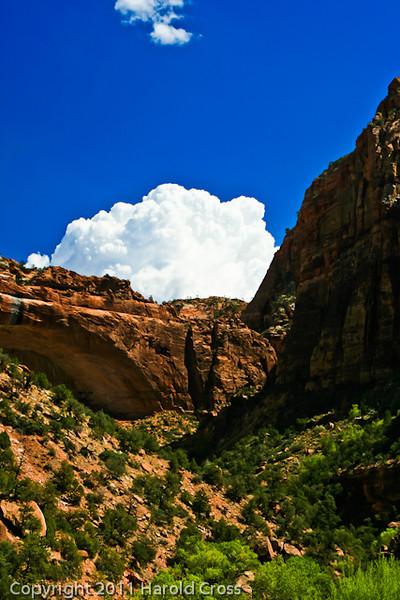 A landscape taken Sep. 10, 2007 in Zion National Park.