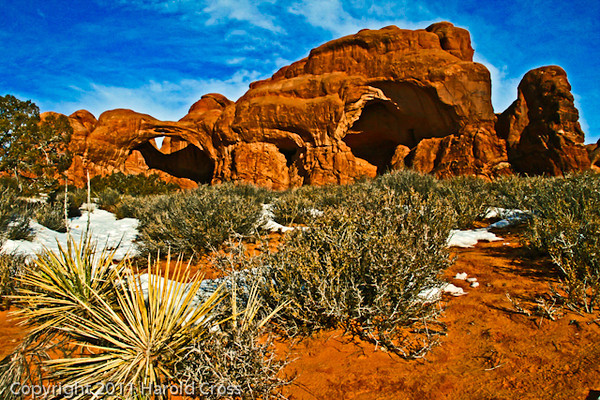 A landscape taken Jan. 6, 2009 in Arches National Park near Moab, UT.